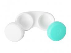 Кутийка за лещи зелена и бяло