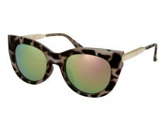 Слънчеви очила Alensa Cat Eye Havana Розово огледални