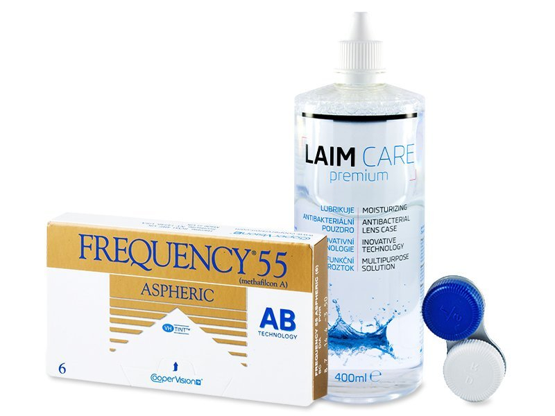 Frequency 55 Aspheric (6 лещи) + разтвор Laim-Care 400ml