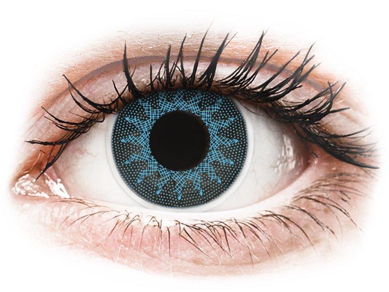 ColourVUE Crazy Lens - Solar Blue - без диоптър (2 лещи)