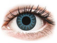 ColourVUE Crazy Lens - Solar Blue - с диоптър (2 лещи)