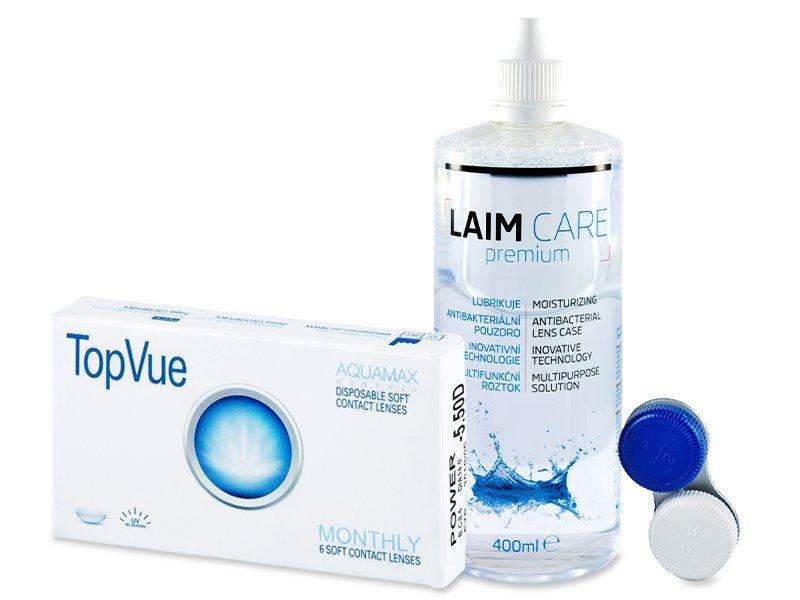 TopVue Monthly (6лещи) + разтвор Laim-Care 400 мл.