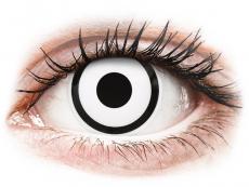 ColourVUE Crazy Lens - White Zombie - дневни без диоптър (2 лещи)