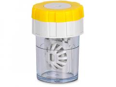 Twist Top въртящ се контейнер за лещи - жълт