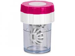 Twist Top въртящ се контейнер за лещи - розов