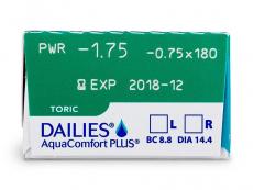 Dailies AquaComfort Plus Toric (30лещи)