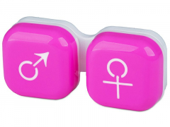 Кутийка за лещи мъжка/женска - розова
