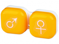 Кутийка за лещи мъжка/женска - жълта