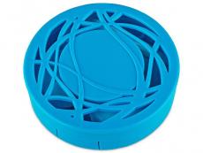 Кутийка за лещи с огледалце - синя с орнаменти