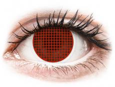 ColourVUE Crazy Lens - Red Screen - без диоптър (2 лещи)