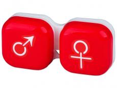 Кутийка за лещи мъжка/женска - червена
