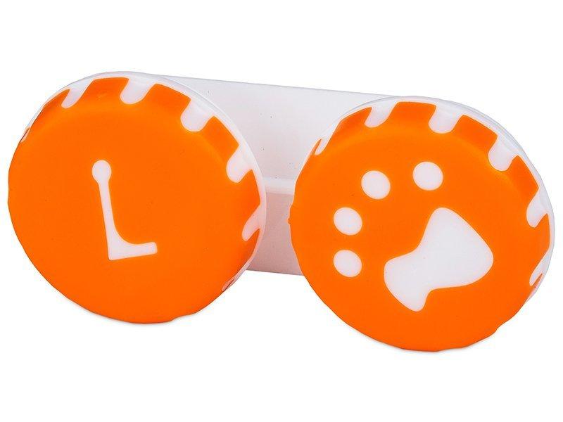 Кутийка за лещи Paw оранжева
