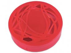 Кутийка за лещи с огледалце - червена с орнаменти