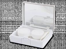 Кутийка за лещи с огледалце Elegant  - сребриста