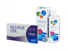Acuvue Vita (6 лещи) + разтвор Gelone 360 ml