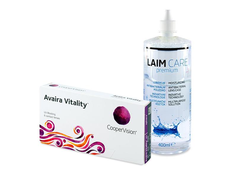 Avaira Vitality (6 лещи) + разтвор Laim-Care 400 ml
