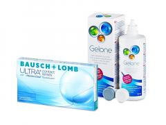 Bausch + Lomb ULTRA (3 лещи) + разтвор Gelone 360 ml
