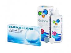Bausch + Lomb ULTRA (6 лещи) + разтвор Gelone 360 ml