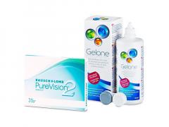 PureVision 2 (3 лещи) + разтвор Gelone 360 ml