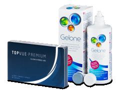 TopVue Premium (6 лещи) +разтворGelone360мл