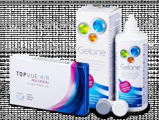 TopVue Air Multifocal (3 лещи) + Gelone Solution 360 ml