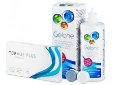TopVue Monthly Plus (6 лещи) + Разтвор Gelone 360 мл