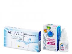 Acuvue Oasys (6 лещи) + капки за очи Gelone