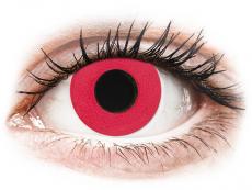 CRAZY LENS - Solid Red - дневни без диоптър (2 лещи)