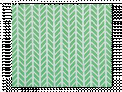 Почистваща кърпа за очила - зелена и бяла херинга