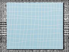 Почистваща кърпа за очила - светлосиня мрежа