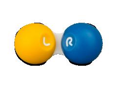 Контейнер за контактни лещи  - жълто & син