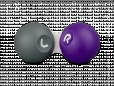 Контейнер за контактни лещи - сиво и лилаво