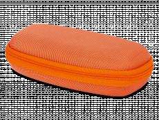 Детски калъф за очила с цип - оранжев