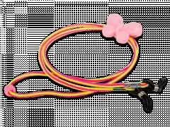 Верижка за очила в розово и жълто –пеперуда