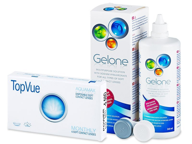 TopVue Monthly (6лещи) + разтвор Gelone 360 мл.
